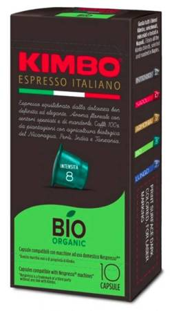 Kapsułki do Nespresso Kimbo  BIO Organic - 10 sztuk