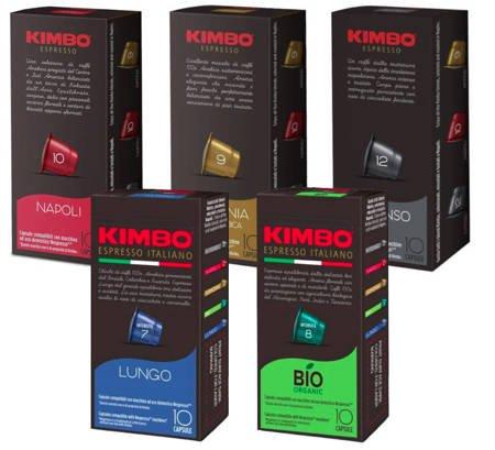 Kapsułki do Nespresso Kimbo MIX zestaw 50 sztuk
